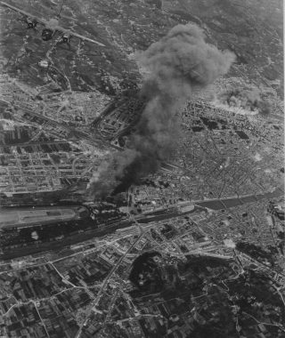 Bombing Of Railroad Yards At Florence, Italy, By Martin B-26 Marauders Of The 12Th Air Force