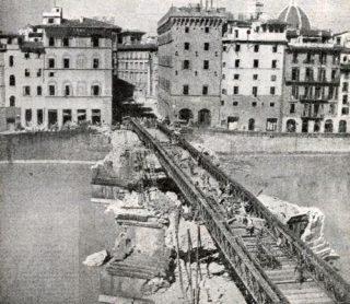 FIRENZE 1945 II GUERRA  ponte bailey