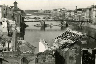 Florence's seven major bridges were destroyed in early August 1944