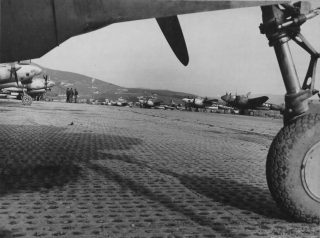 firenze Lockheed P-38 Lightnings On The Line At Florence Airport At Florence, Italy