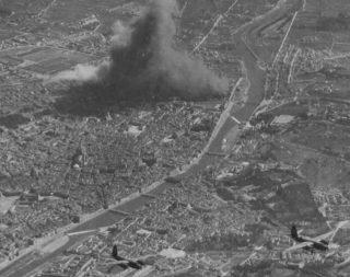 ww2 bombing firenze bombardamento firenze  stazione  foto aerea firenze