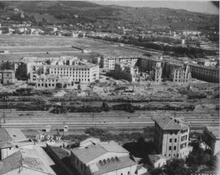 campo di marte bombing FIRENZE FOTO 25 SETTEMBRE 1943 BOMBARDAMENTO CAMPO DI MARTE