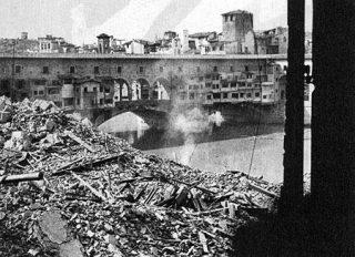 FIRENZE PONTE VECCHIO GUERRA 1945