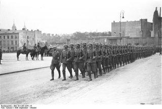 Warschau, Parade deutscher Truppen