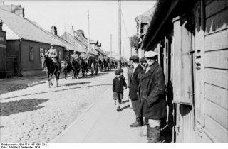 Polen, Einmarsch berittener deutscher Soldaten