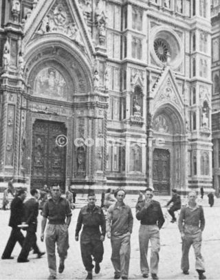 In front of the cathedral in Florence