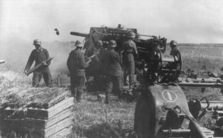 88-mm anti-aircraft gun FlaK 18 on the Eastern Front