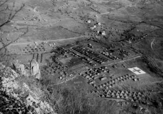 Veduta aerea dell'Ospedale Passo della Futa linea gotica