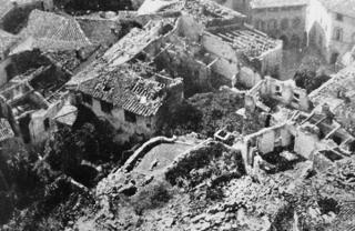 barga bombardata linea gotica