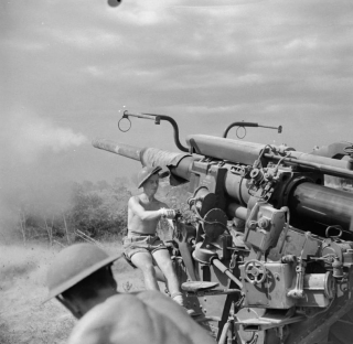 bombarding enemy positions on the Gothic Line, 2 September 1944