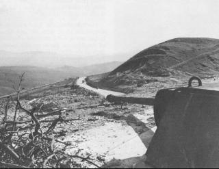 postazione tedesca in Gothic Line 1945