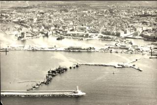 Leghorn 1944 -5 livorno porto foto aerea