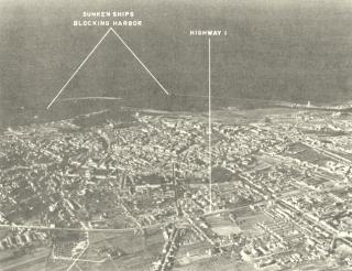 Veduta aerea di Livorno 1944