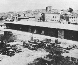 medical storage area in Leghorn (Livorno) Italy Picture taken early 1945