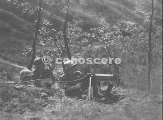gothic line USA  machine gun position on Monticelli