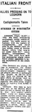 articolo 14 july 1944 livorno castiglioncello taken
