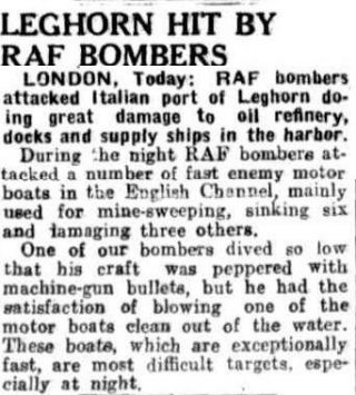 articolo 29 maggio 1943 raffineria livorno