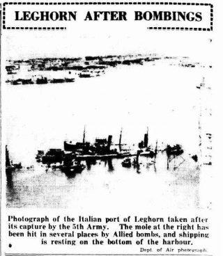 articolo 8 settembre 1944 livorno