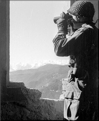 february 1945 scouting from observation point cutigliano pistoia