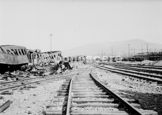 florence damage stazione campo di marte and firenze rifredi1945