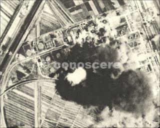 livorno bombardamento raffineria petrolio - 1943