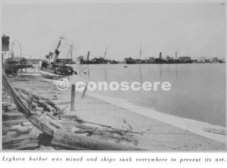 livorno porto navi affondate dai bombardamenti 1944