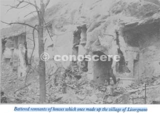 resti brandelli di case che un tempo costituivano il villaggio di livergnano