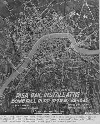 15 feb 1944 bombing damage pisa