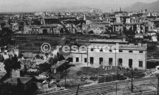 Bomb Damage To Railroad Yards At Pisa-wwii