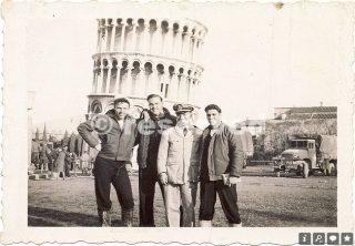 Fred in WWII On the town in Pisa 1944-45_