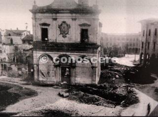 Pisa Chiesa di Sant'Antonio dopo i bombardamenti del 1943