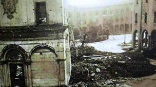 Pisa  piazza S Antonio al tempo di guerra