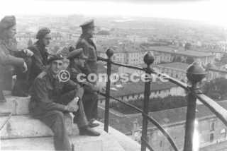 Taken on top of the Leaning Tower of Pisa Italy in 1944