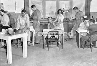 View of the Physiotherapy Section of the 33d General Hospital Livorno Italy_wwii