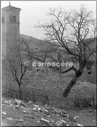 march 1945  view of castel d'aiano italy