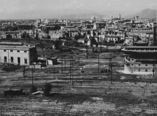 pisa 15 nov 1945 bomb damage