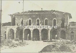 pisa Stazione Ferroviaria Centrale dopo il bombardamento