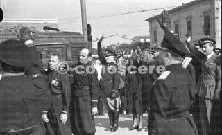 pisa onoranze funebri del Capitano Pilota Bruno Mussolini 1941