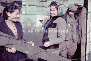Unidentified young women Kutno Nazi-occupied Poland 1939