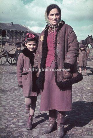Unidentified woman and child Kutno Nazi-occupied Poland 1939