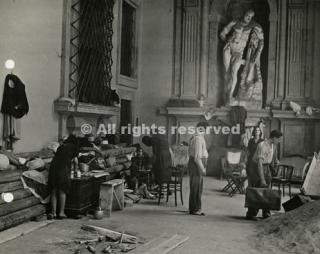 firenze sfollati a palazzo pitti 1944