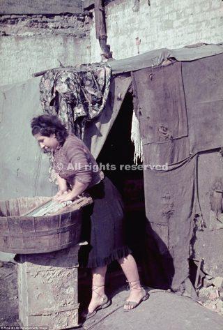 poland woman washing board