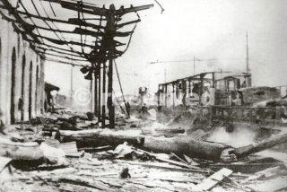 stazione di foggia dopo bombardamento 1943_foggia bombardamento