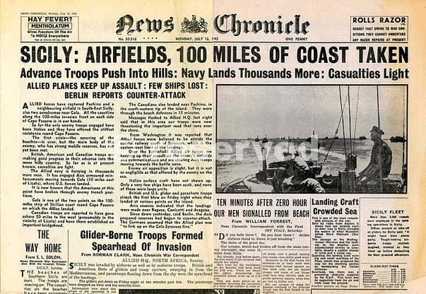 Invasion of Sicily 1943 Operation Husky_sicilia word war