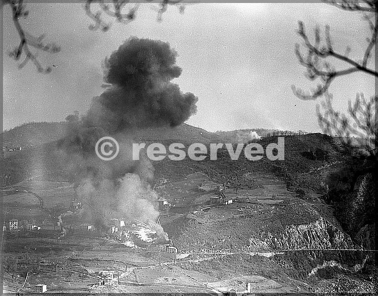 aprile 1945 rocca di roffeno esposioni su postazioni tedesche vicino monte della spe