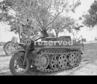 sicila Captured German Kettenkrad tracked motorcycle 23 July 1943
