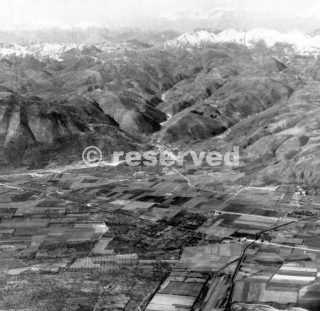 VOLTURNO RIVER VALLEY NORTH OF VENAFRO. River is in foreground. The valley had been cleared of enemy troops by the middle of November 1943._wwii