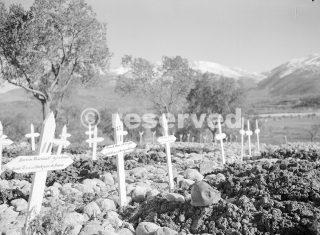 luglio 1944 Francese Cimitero Roccaravindola nel settore Venafro_wwii