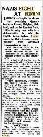 06 Sep 1944   NAZIS FIGHT AT RIMINI_rimini foto di guerra
