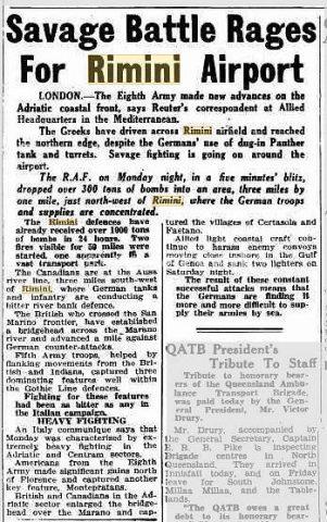 20 Sep 1944   Savage Battle Rages For Rimini Airport_rimini foto di guerra